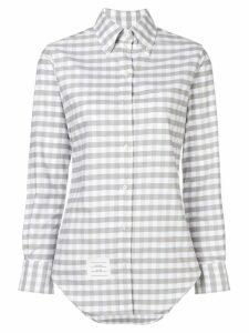 Thom Browne Gingham Check Classic Oxford Shirt - Grey