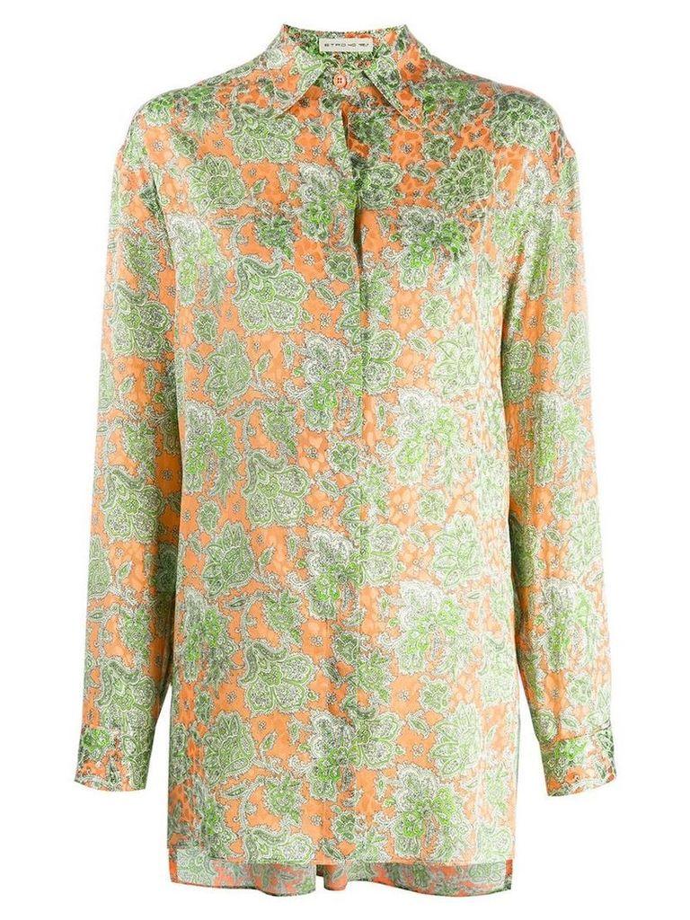 Etro two tone shirt - Orange
