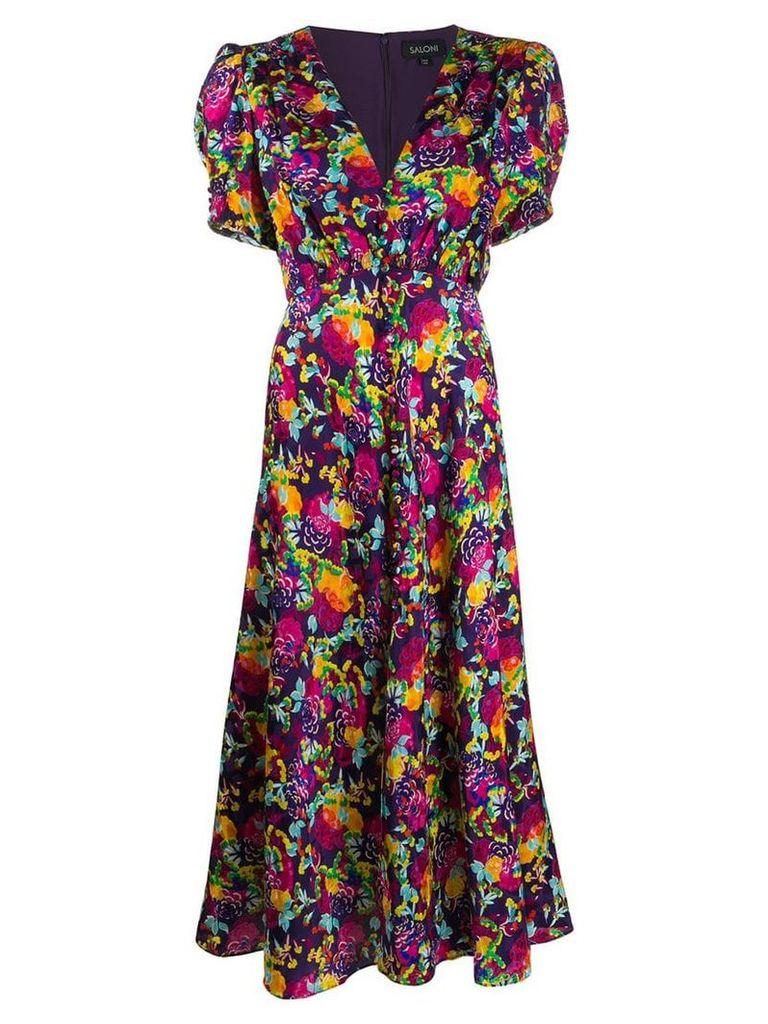 Saloni Lea silk maxi dress - Purple