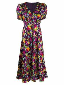 Saloni Lea silk maxi dress - Purple