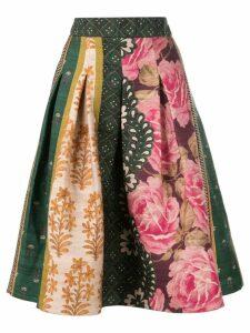 Oscar de la Renta floral print puffy skirt - Multicolour