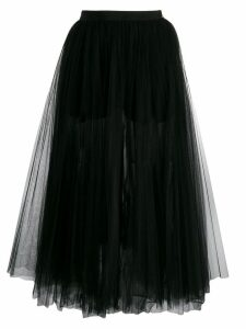 Elisabetta Franchi layered tulle skirt - Black