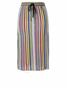 Marques'Almeida striped drawstring skirt - Multicolour