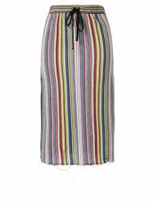Marques'Almeida striped drawstring skirt - Multicolour