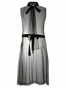 Dorothee Schumacher tulle roll neck dress - Black