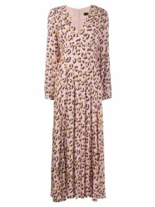 Andamane abstract print midi dress - Pink