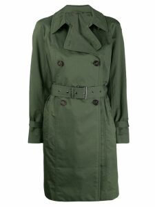 Brunello Cucinelli belted short trenchcoat - Green
