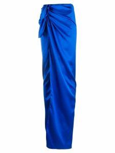 Balenciaga tie-waist wrap skirt - Blue