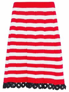 Miu Miu crochet straight skirt - Red