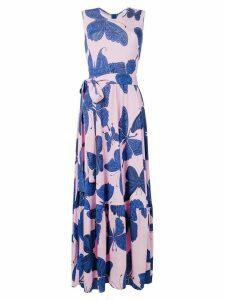 Ultràchic butterfly print dress - Pink