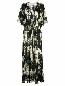 Carolina Herrera floral print maxi dress - Black