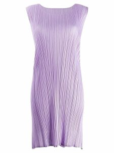 Pleats Please By Issey Miyake micro-pleated tank top - Purple