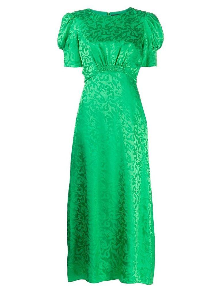 Saloni floral print maxi dress - Green