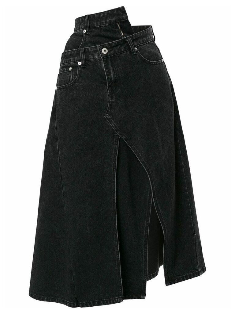 Ground Zero asymmetric denim skirt - Grey