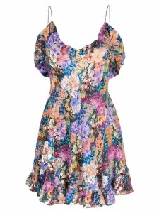 Les Reveries floral print ruffled dress - Multicolour