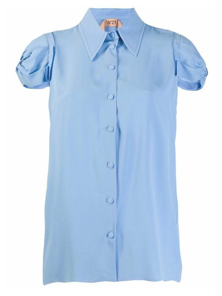 Nº21 gathered sleeve shirt - Blue