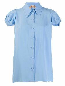 Nº21 gathered sleeve shirt - Blue