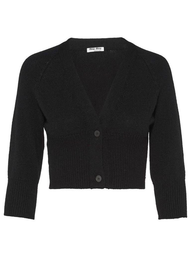 Miu Miu cropped cardigan - Black