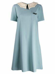 Gucci bat collared shift dress - Blue