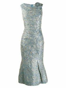 Ermanno Scervino brocade midi dress - Blue