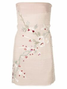 Alexis Asuka embroidered strapless dress - Pink