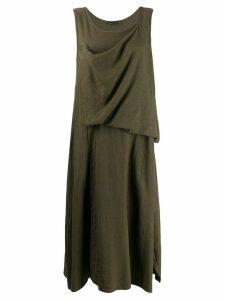 Yohji Yamamoto drape detail dress - Green