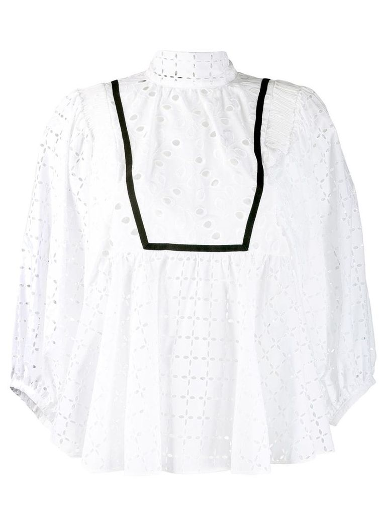 Rochas macrame blouse - White