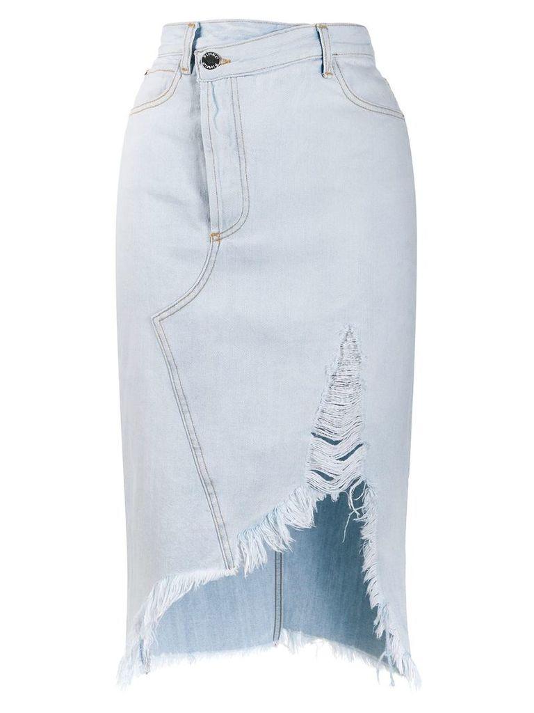 Pinko mid-length denim skirt - Blue