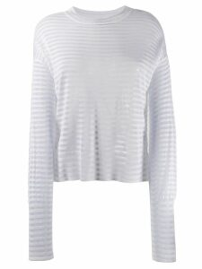 RtA striped sweater - White