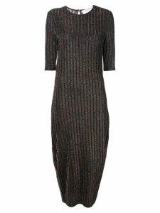 Carolina Herrera round neck ribbed dress - Black