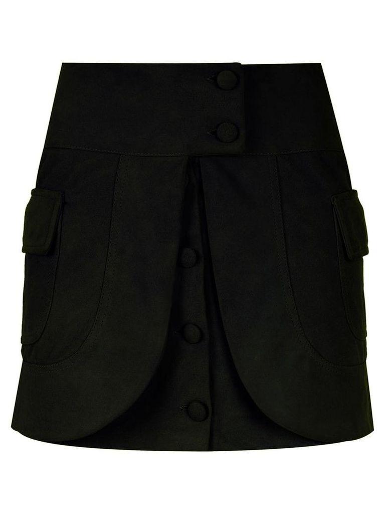 Andrea Bogosian layered leather skirt - Black