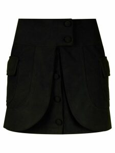 Andrea Bogosian layered leather skirt - Black