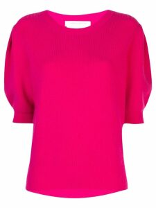 Carolina Herrera puff-sleeve knitted top - Pink