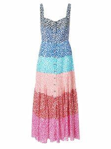 Saloni colour block dress - Multicolour