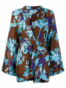 P.A.R.O.S.H. printed kimono - Blue