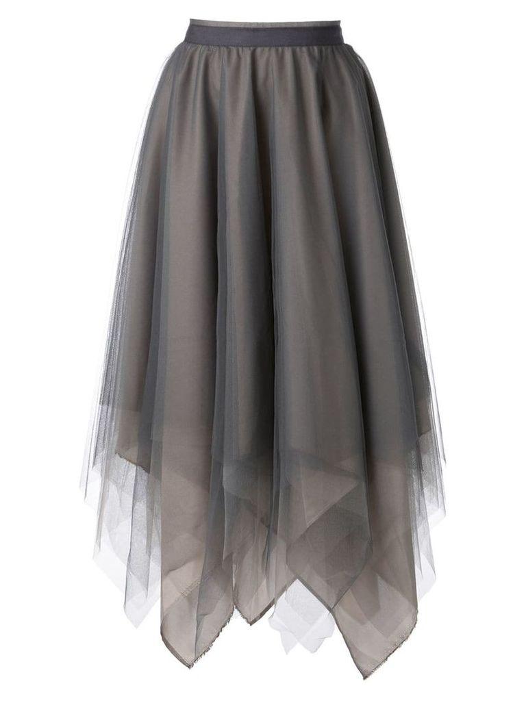 Marc Le Bihan tulle midi skirt - Grey