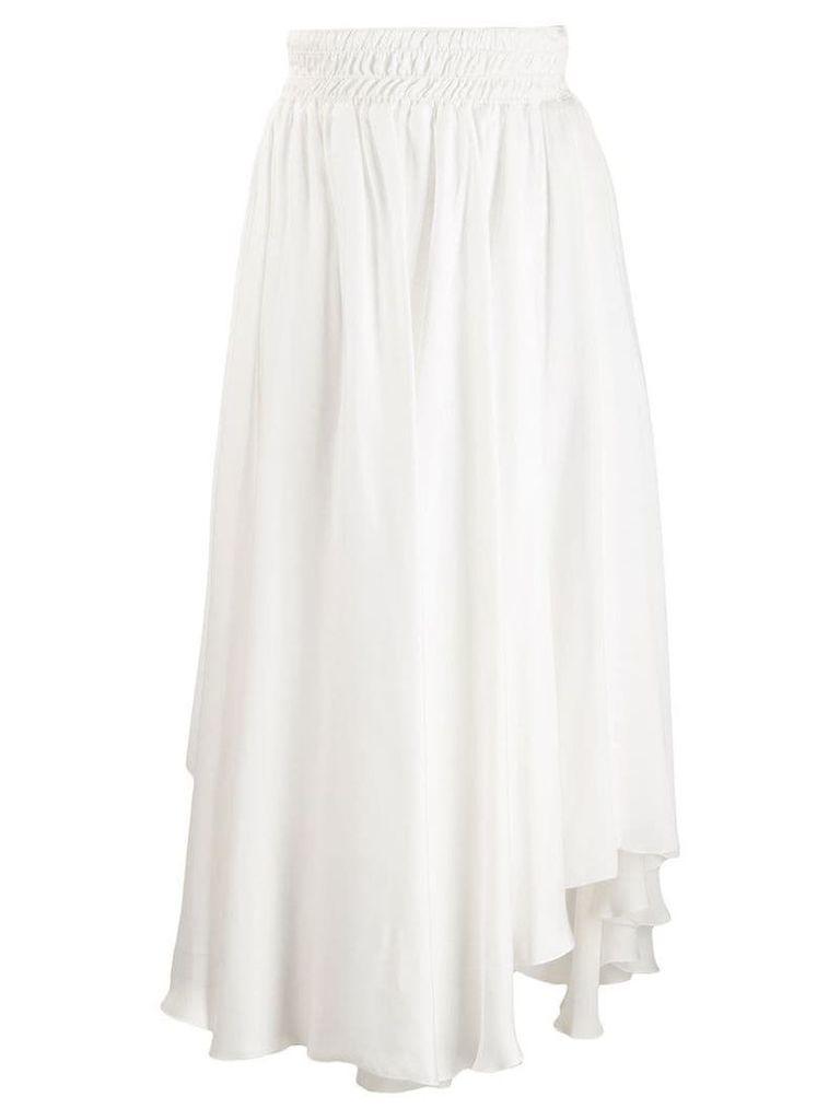 Fabiana Filippi asymmetric hem skirt - White