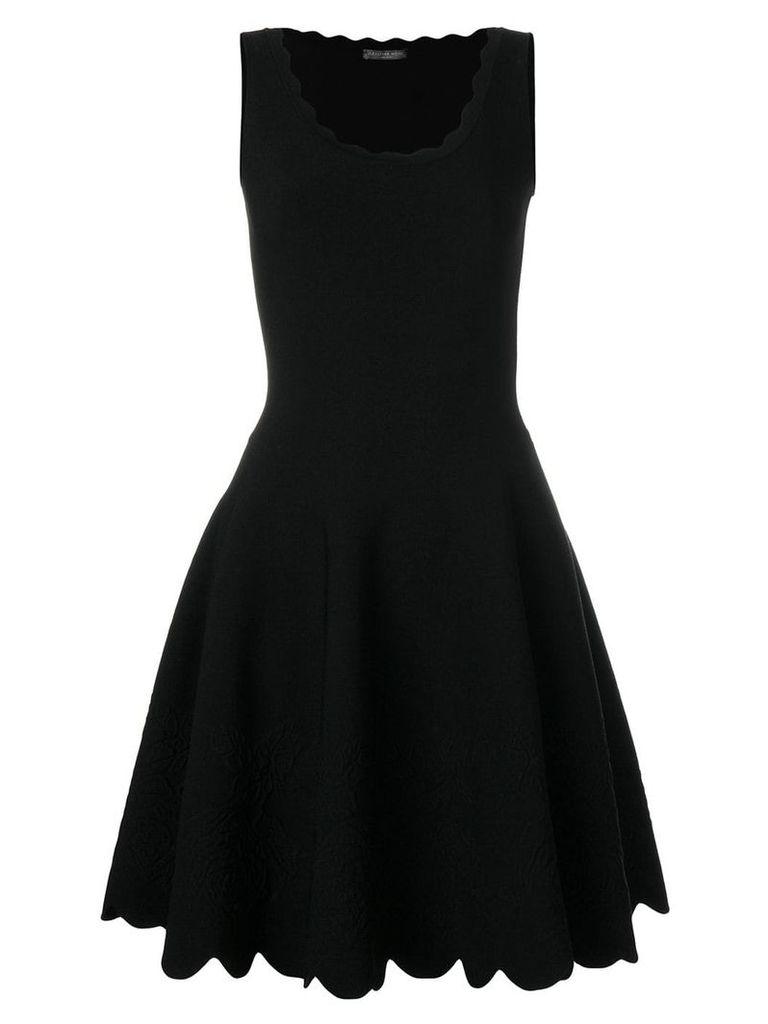 Alexander McQueen scalloped trim dress - Black