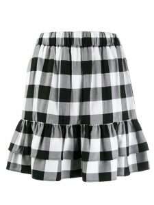 Love Moschino checked short skirt - Black