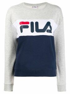 Fila logo colour-block sweatshirt - Blue