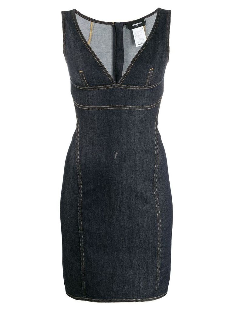 Dsquared2 tube denim dress - Blue