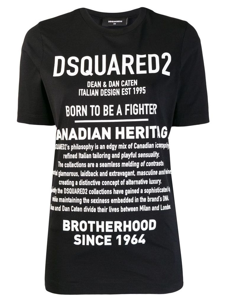 Dsquared2 Description print T-shirt - Black