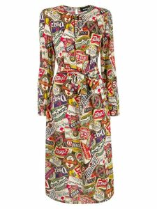 Dsquared2 printed belted midi dress - Neutrals