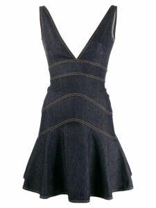 Dsquared2 peplum denim mini dress - Blue