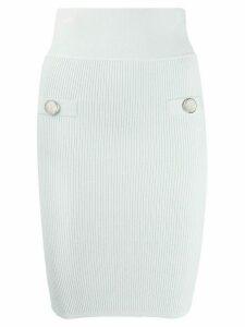 Balmain knitted pencil skirt - Blue