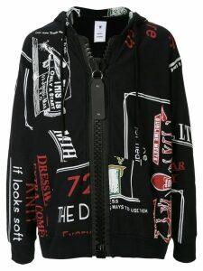 Maison Mihara Yasuhiro Caligraphy print hoodie - Black