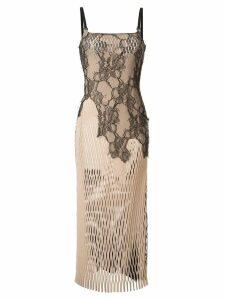 Dion Lee Erosion lace cami-dress - Neutrals
