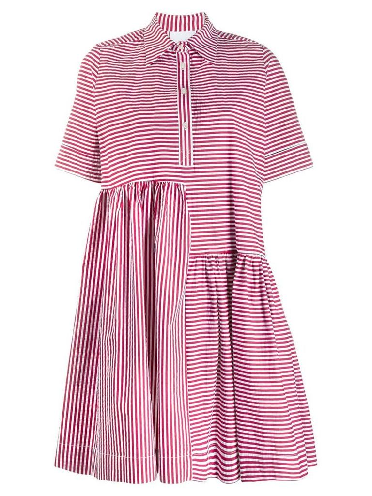 Gaelle Bonheur striped T-shirt dress - Red