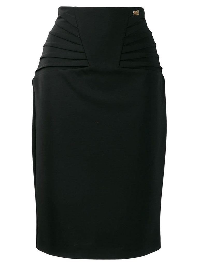 Cavalli Class fitted midi skirt - Black