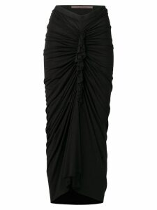 Rick Owens Lilies draped woven skirt - Black